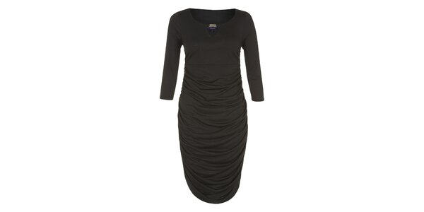 Dámské černé šaty se zlatou ozdobou Hot Squash