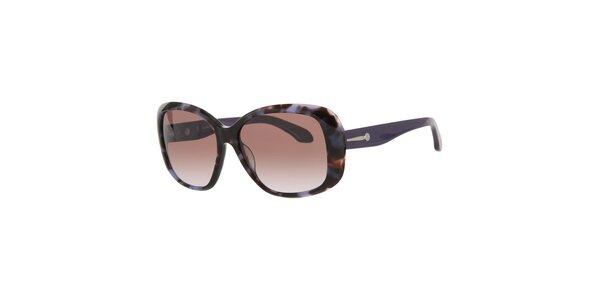 Dámské fialové sluneční brýle Calvin Klein s kovovými detaily a vzorovanými…