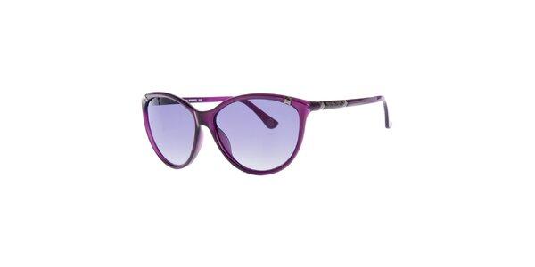 Dámské fialové sluneční brýle s šedými sklíčky Michael Kors