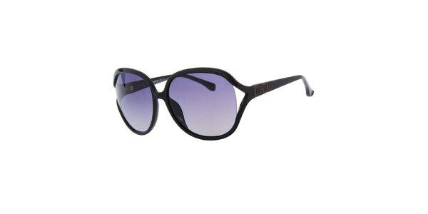 Dámské černé oválné sluneční brýle Michael Kors