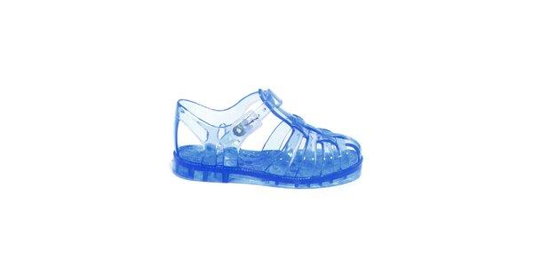 Dětské transparentní sandály v modré barvě Favolla