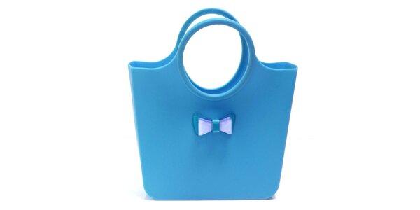 Dámská bledě modrá taška s mašličkou Favolla