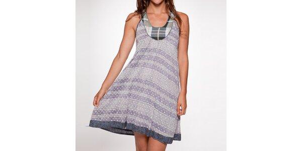 Dámské fialové šaty bez rukávů Ian Mosh