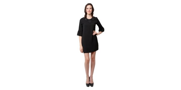 Dámske čierne šaty Miss June s korálkami