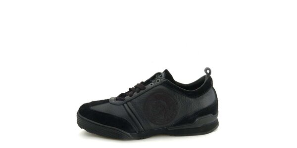 Dámské kožené černé tenisky s prošíváním Diesel