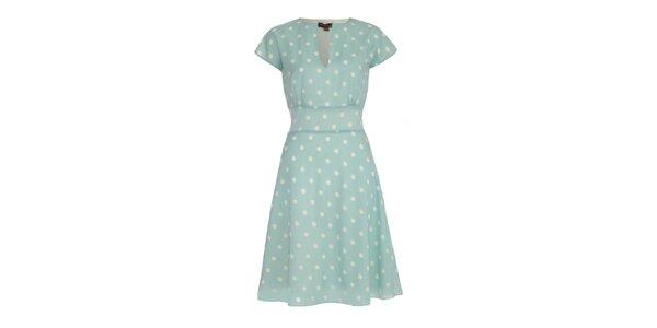 Dámské světle modré šaty s puntíky Fever