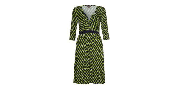Dámské šaty se zelenými jablíčky Fever