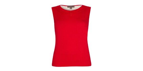 Dámský červený top s límečkem Fever