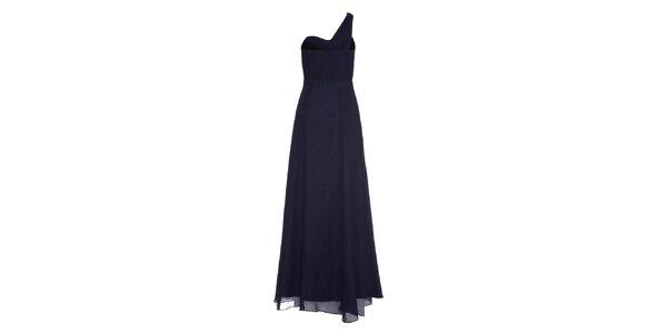 Dámské tmavě modré dlouhé šaty Fever