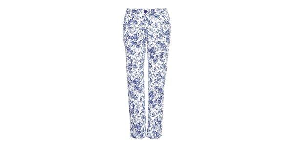 Dámské modře květované kalhoty Fever