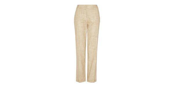 Dámské pískové vzorované kalhoty Fever