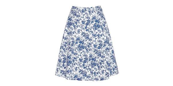 Dámská modře květovaná sukně Fever