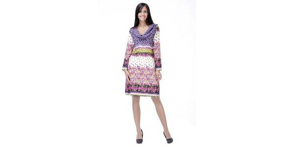 Světlé květinové šaty Peace&Love