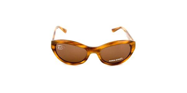 Hnědě žíhané sluneční brýle Sonia Rykiel