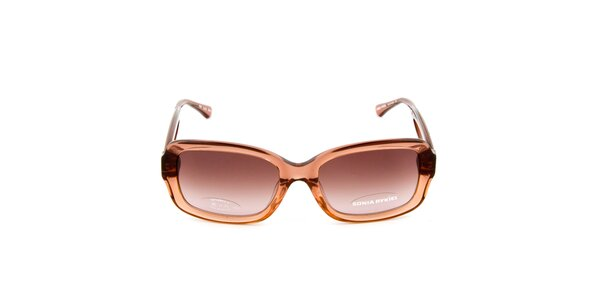 Hnědé transparentní sluneční brýle Sonia Rykiel