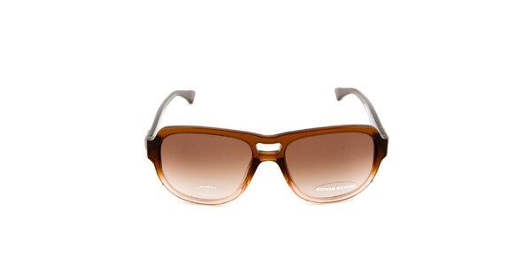 Tmavě hnědé sluneční brýle Sonia Rykiel