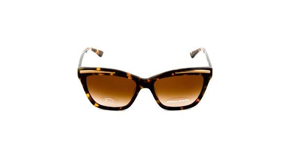 Hnědé sluneční brýle se žíháním Sonia Rykiel