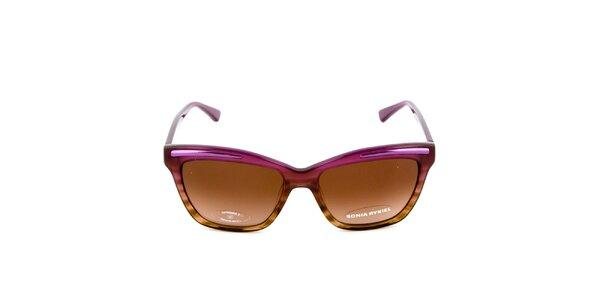 Fialovo-hnědé sluneční brýle Sonia Rykiel