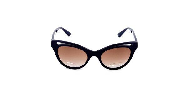 Dámské tmavě modré retro sluneční brýle s hnědými sklíčky Sonia Rykiel