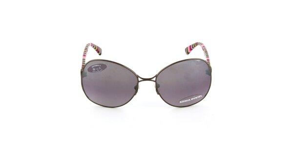Kovové sluneční brýle s pruhovanými stranicemi Sonia Rykiel