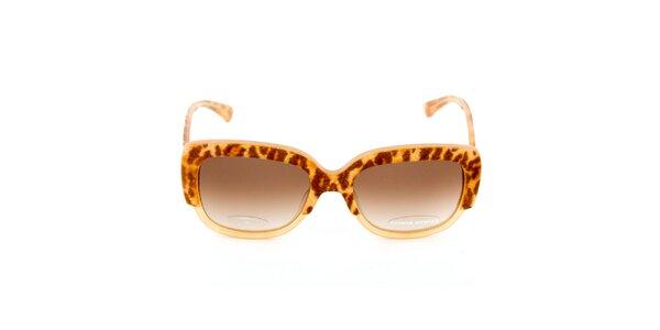 Béžovo-hnědé sluneční brýle Sonia Rykiel