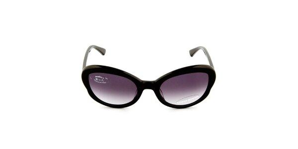 Dámské černé sluneční brýle s gradientními černými sklíčky Sonia Rykiel