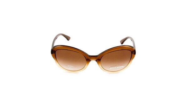 Dámské hnědé transparentní brýle s hnědými sklíčky Sonia Rykiel
