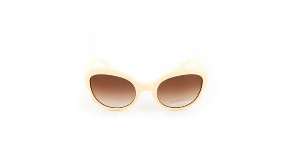 Béžové sluneční brýle s gradientním efektem Sonia Rykiel