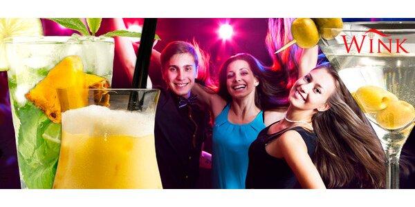 Party dle výběru a 2 míchané drinky v baru Wink!