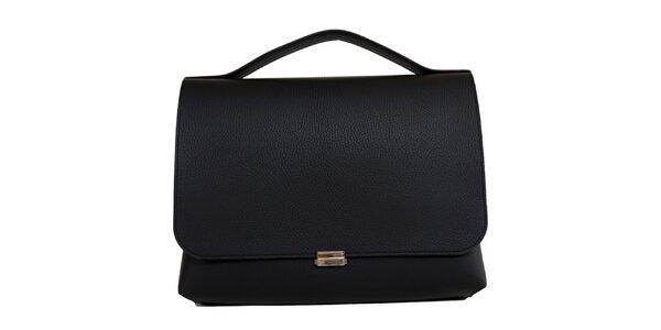 Dámské černá obdélníková kožená kabelka Bellemarie