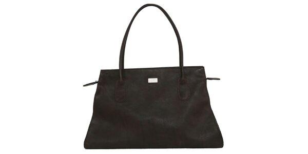 Dámská tmavě hnědá kožená kabelka Bellemarie