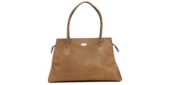 Dámská okrová kožená kabelka Bellemarie