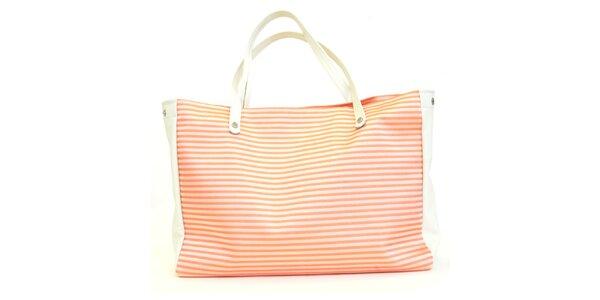 Dámská kabelka s oranžovými proužky Bellemarie