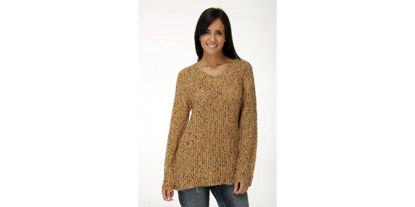 Pletený béžový svetr Peace&Love