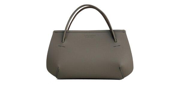 Dámská šedá kožená kabelka Bellemarie