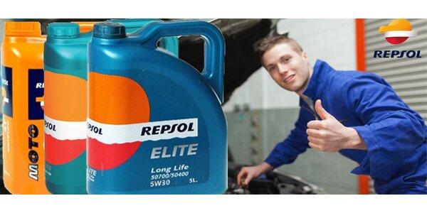 Automobilový nebo motocyklový olej značky REPSOL