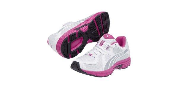 Dámské bílo-stříbrno-růžové sportovní tenisky Puma