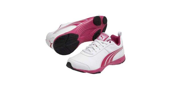 Dámské bílé sportovní tenisky s růžovými prvky Puma