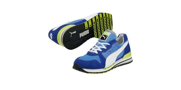 Modré tenisky s kontrastními proužky Puma