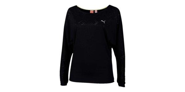 Dámské černé sportovní tričko s potiskem Puma