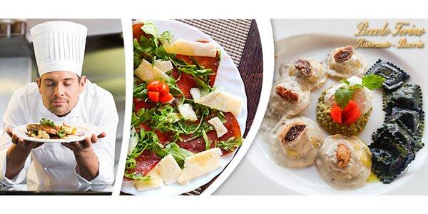 Italské dvouchodové menu pro 1 či 2 jedlíky