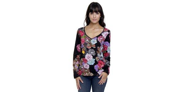 Dámský pestrobarevný top Peace&Love s květinovým vzorem