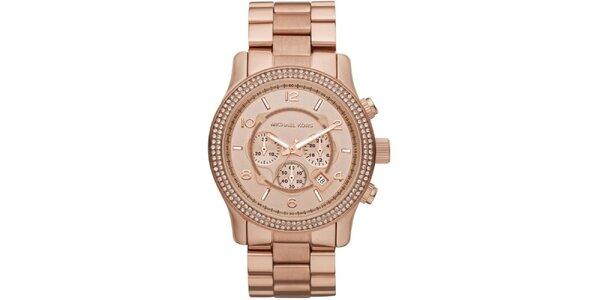Dámské růžově zlaté hodinky Michael Kors