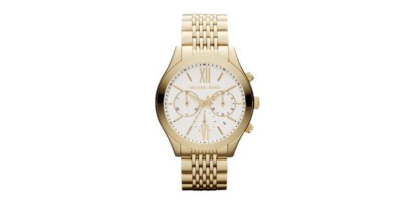 Dámské zlatě tónované hodinky Michael Kors