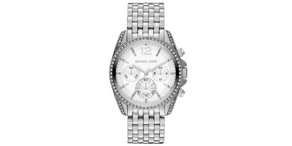 Dámské ocelové hodinky se zirkony Michael Kors