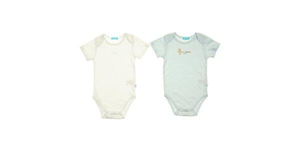 Sada dvou dětských body Lullaby - modré a bílé