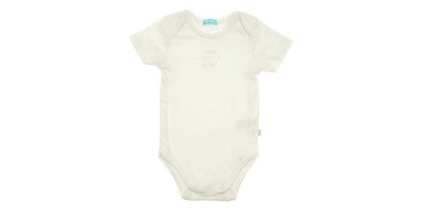 Dětské bílé body Lullaby s krátkým rukávem