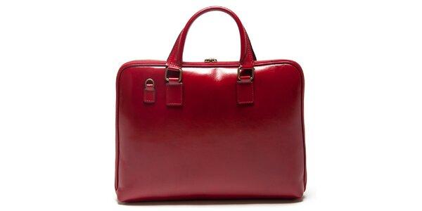 Dámská červená obdélníková kabelka Mangotti