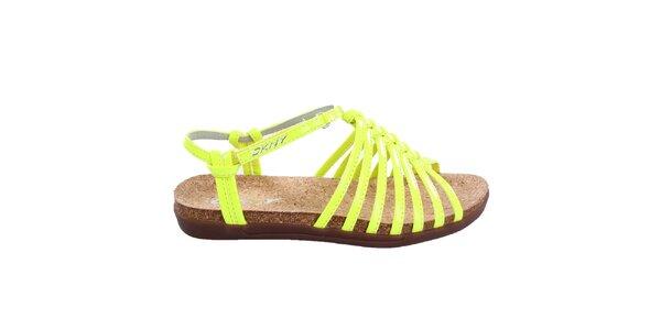 Dámské zářivě žluté sandálky DKNY