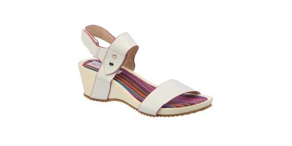 Dámské bílé sandálky s pruhovanou stélkou Elisabeth